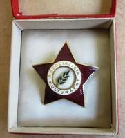 A Szocialista Kulturáért,szocreál kitüntetés, kitűző, tűzzománc.