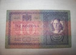 1904 évjáratú 10 koronás Ritkia kép szerint sorszám válozhat.