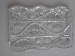 Retro cseh Poltár kristályüveg tál,kínáló,asztalközép