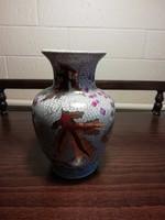 Szőlő mintás porcelán kis váza