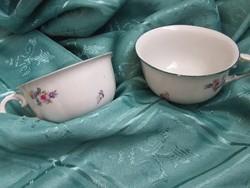 Régi Hollóházi virág mintás csészék