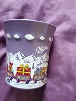 Milkás szép csésze 2 dl  kerámia