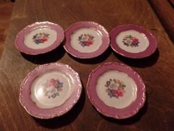 5 db Zsolnay kis tányér