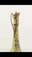 Jugendstil- szecessziós porcelán -bronz kiöntő -kancsó