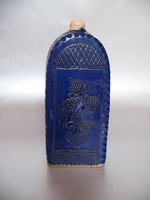 Régi, kék HMV butella (20,5 cm)