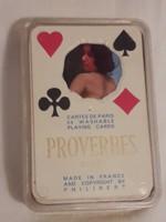 RITKASÁG PROVERBES STORY vintage 1950-es évek 54 pin-up AKT modell kártya PHILIBERT FRANCE