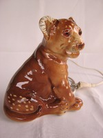 Oroszlán oroszlánkölyök hangulatlámpa Lippelsdorfi porcelán lámpa