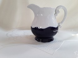 Kék - fehér porcelán kiöntő  - zsolnay /  2563