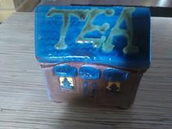 Kerámia tea filter tároló házikó