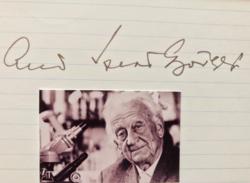 Szent-Györgyi Albert Nobel-díjas magyar orvos, biokémikus aláírása, autográfia, autogram