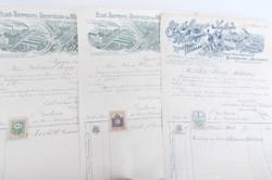 Helytörténeti ritkaság Első Soproni Sörgyár és  Malátagyár részvény csomag 1900 évekből