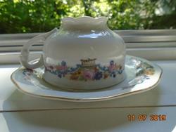 """""""Modell Carlsbad """"virágkosár mintával Pirkenhammer teás csésze alátéttel"""