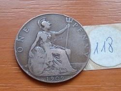 ANGLIA ANGOL 1 PENNY 1909 118.