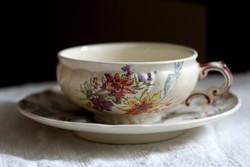 Sarreguemines Lavalliere antik fajansz teás szett