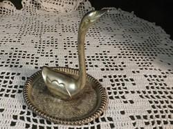 Gyűrű tartó hattyú formájú