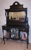 Angol Viktorianus  barokk stilusu tukros mahagoni talaloszekreny.