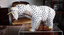 Hatalmas pikkelyes Herendi porcelán jegesmedve