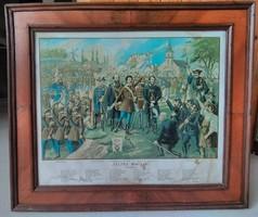 Talpra magyar! 1848 - színes olajnyomat