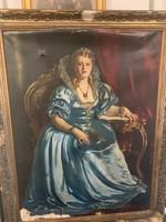 Áralat elado csodálatos nagy méretü nöi portré  restatuálni kell