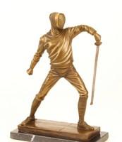 Vívó -bronzszobor,vívás