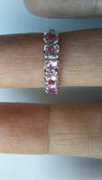 Rózsaszín turmalin 925 gyűrű (53)