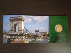 200 forintos érme első napi veret és bankjegy bliszter díszcsomagolás 2010