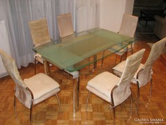 Modern 3 méretben állítható étkezőasztal székekkel