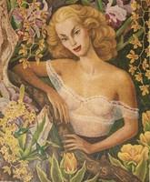 Ritka Diego Rivera litográfia: Linda Christian portréja