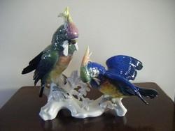 Antik ENS dupla óriási papagáj pár