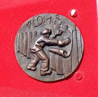 Ivány: 60 éve alakult a kommunisták magyarországi pártja bronz plakett