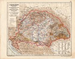 A Magyar Korona országai 1847, kiadva 1913, történelmi, Kogutowicz Manó, Nagy - Magyarország, megye