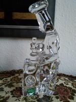 A svéd Orrefors kristály üveg szakács figurája, jelzett!