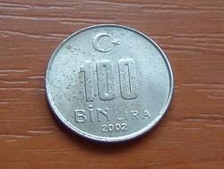 TÖRÖK 100 BIN (100.000) LÍRA 2002 #