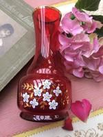 Csodás kézzel festett, peremén aranyozott hibátlan váza