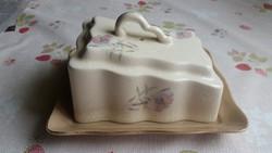 Különleges formájú antik vajtartó,sajttartó eladó!