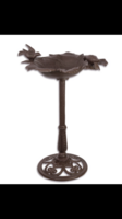 Öntött vas madár itató - madár fürdető