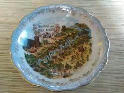 Johann Haviland Bavaria porcelán dísz tányér