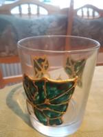 Csodaszép zöld leveles pohár 2 dl