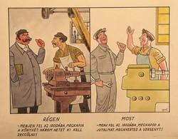 Gerő Sándor (1904-1977) Régen és most karikatúra