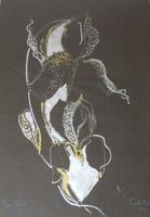 Szántó Piroska - Írisz táncol 70 x 50 cm pasztell, papír