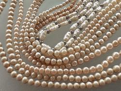 Régi női nyaklánc vintage gyöngysor nyakék 5 db
