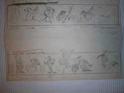 Képregény karikatúra nincs szignálva, megjelenés ismeretlen 35x25 cm