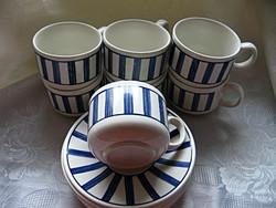 Angol csíkos retro teás szett