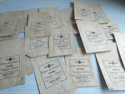 Régi címeres lőporos papírzacskó 20 db