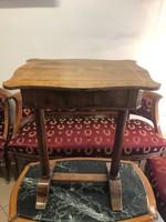 Antik Bieder meier asztalka