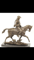 XV.Lajos francia király lóhàton bronz szobor