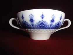 Hutschenreuther  német porcelán leveses csésze. Kobalt kék mintával.