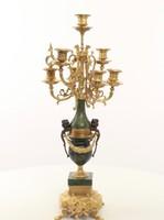 Francia XV.Lajos stílusú tűziaranyozott bronz 7ágú  gyertyatartó