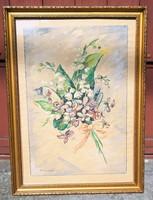 PÁLMAI KÁROLY (1825-1860) EREDETI AKVARELL FESTMÉNYE