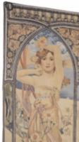 Art nouveau -szecessziós fali szőnyeg-falikárpit